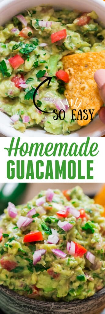 homemade guacamole recipe with text overlay