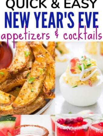 new year's eve appetizers & cocktails