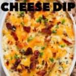 cream cheese dip in ceramic bowl
