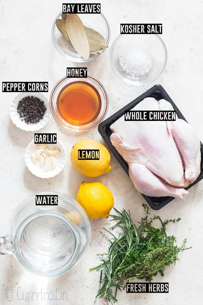 ingredients used to make chicken brine