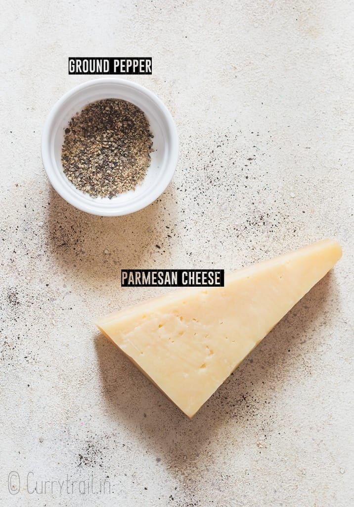 ingredients for parmesan crisps