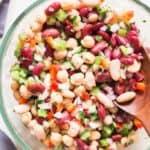 3 bean salad in bowl