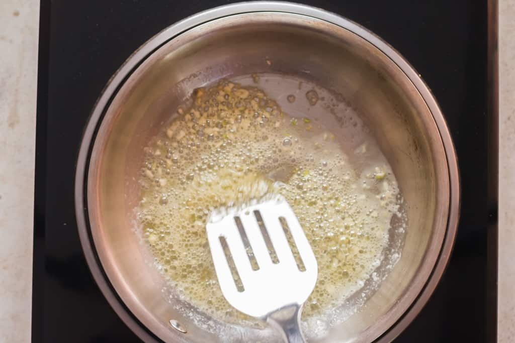 minced garlic sauted in butter