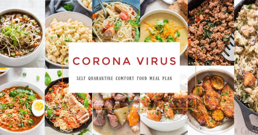 corona virus self quarantine meal plan