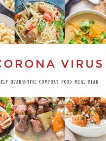 corona virus self quarantine meal plan