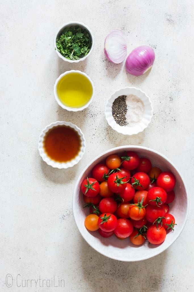 ingredients for cherry tomato salad recipe