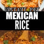 instant pot Mexican rice with veggies with text