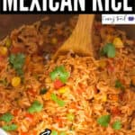 Instant pot Mexican rice with text overlay