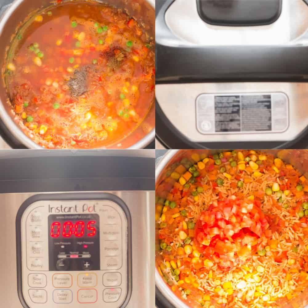 step by step pictorial for instant pot Mexican rice