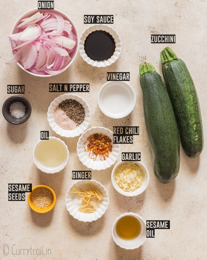 ingredients for zucchini stir fry recipe