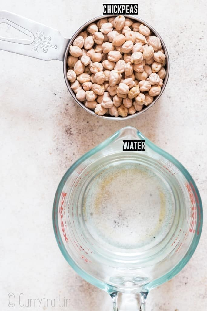 ingredients for instant pot chickpeas