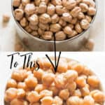 perfectly cooked instant pot chickpeas in white bowl