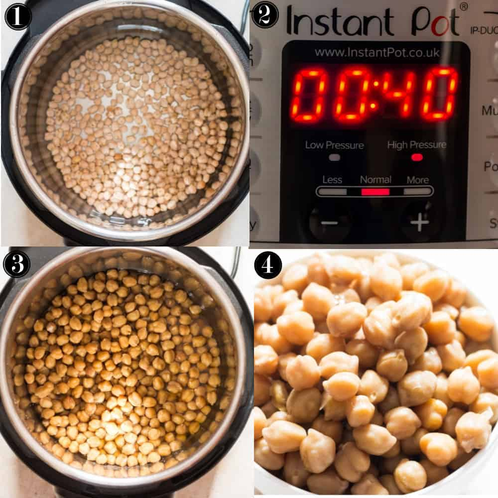 step by step instructions of how to cook instant pot chickpeas