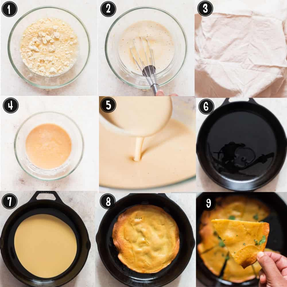 step by step pictures for making homemade socca