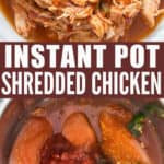 instant pot shredded chicken Mexican style with text