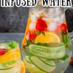 a pitcher full of infused detox water with text