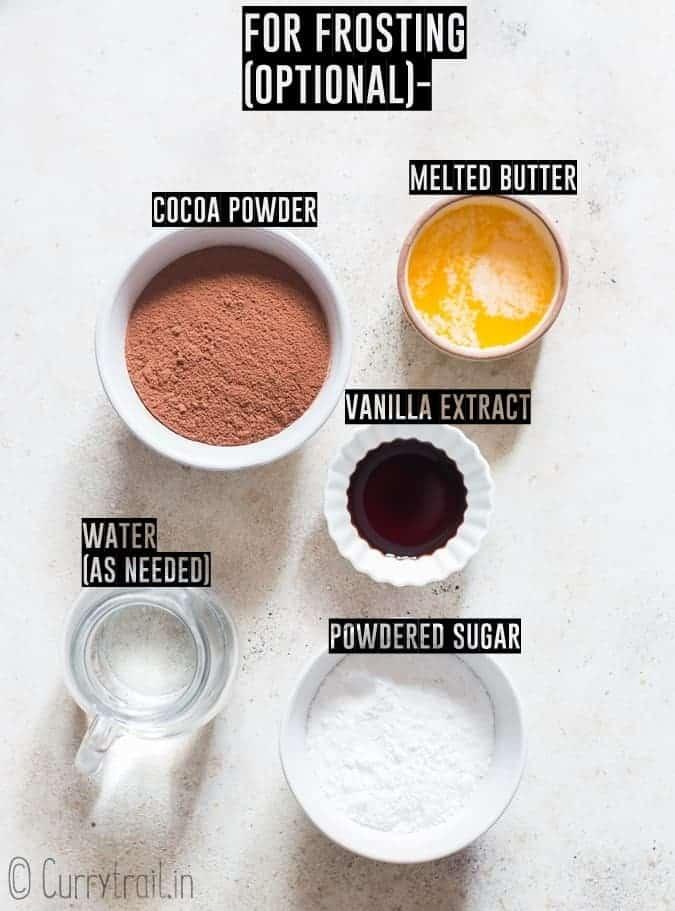 ingredients for brownie frosting