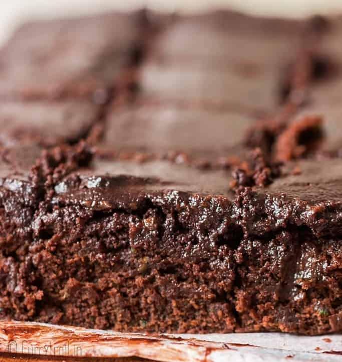 fudgy moist zucchini brownies cut into bars