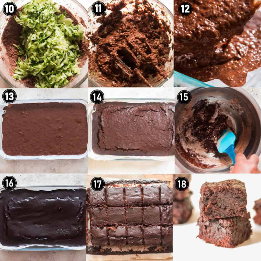 zucchini brownie recipes step by step pictures