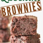 healthy zucchini brownies with text