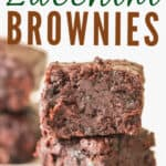 moist zucchini brownies with text