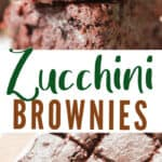 zucchini brownies with text