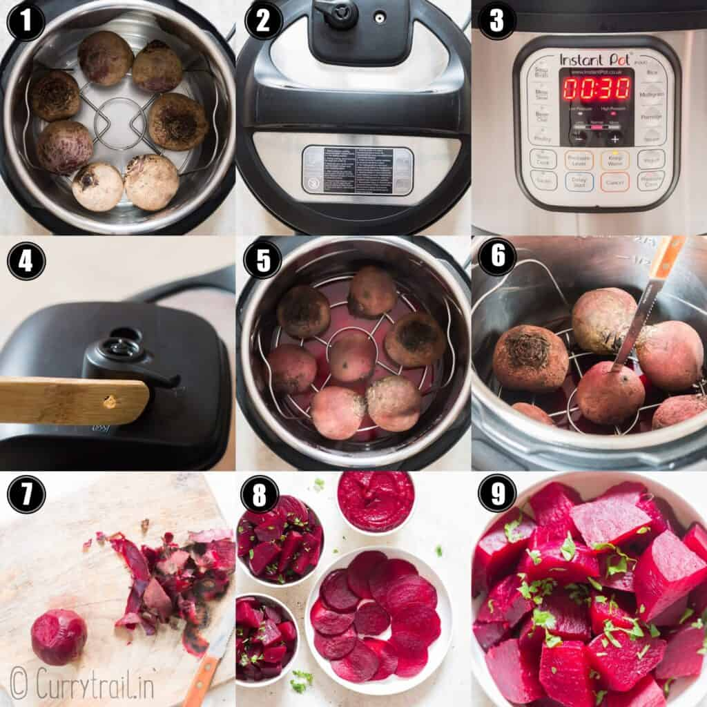 step by step instructions on how to cook instant pot beets