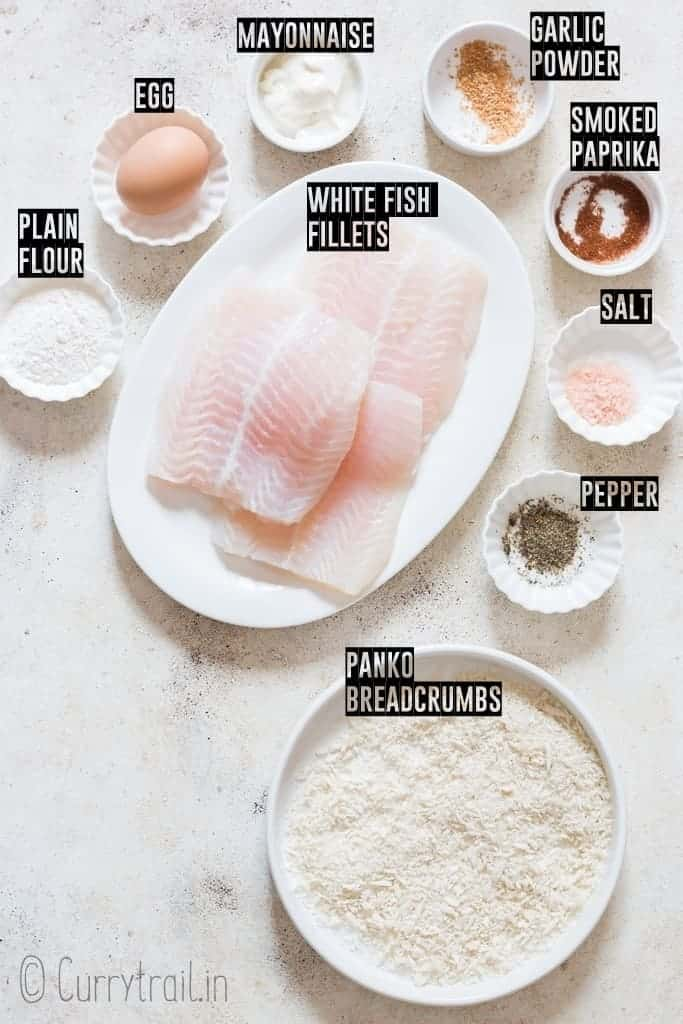 all ingredients for Filet-O-Fish burgers on board