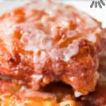 easy old fashioned fritters recipe using apples with text