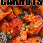 healthy glazed carrots with text