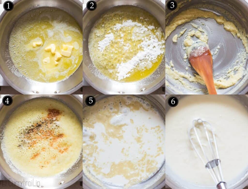 picture collage of step by step instructions of creamed peas