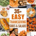 a collage of best thanksgiving and Christmas side dishes with text