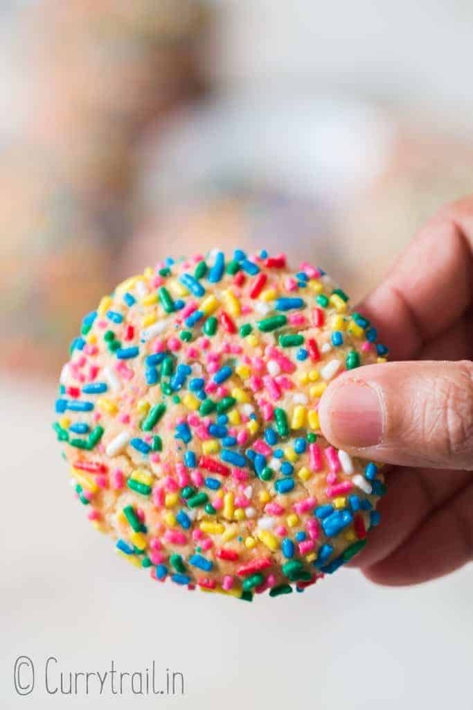 soft and chewy sprinkle sugar cookies
