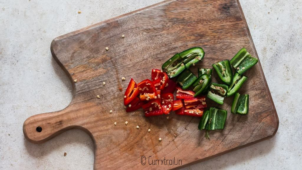 chopping jalapenos for jalapeno jelly recipe