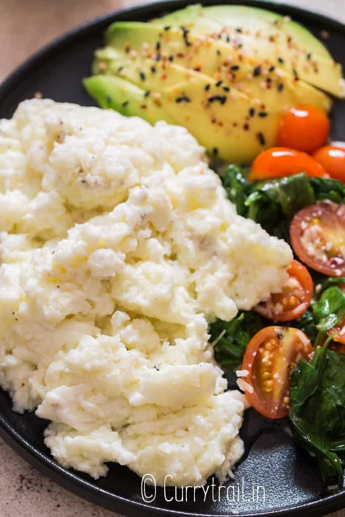 scrambled egg whites with veggies on plate