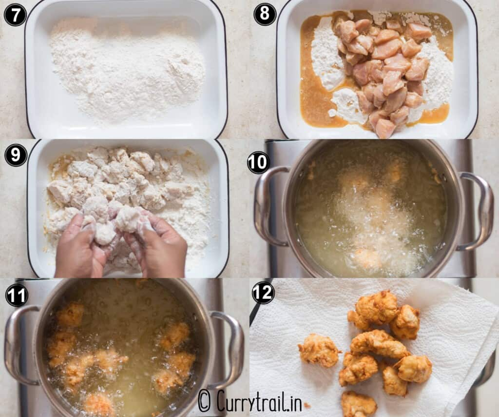 step by step pictorial of lemon chicken Chinese style