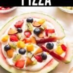 watermelon dessert pizza with text