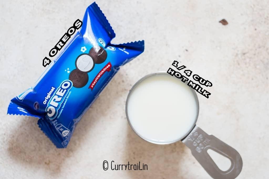 2 ingredients needed to make microwave mug cake recipe
