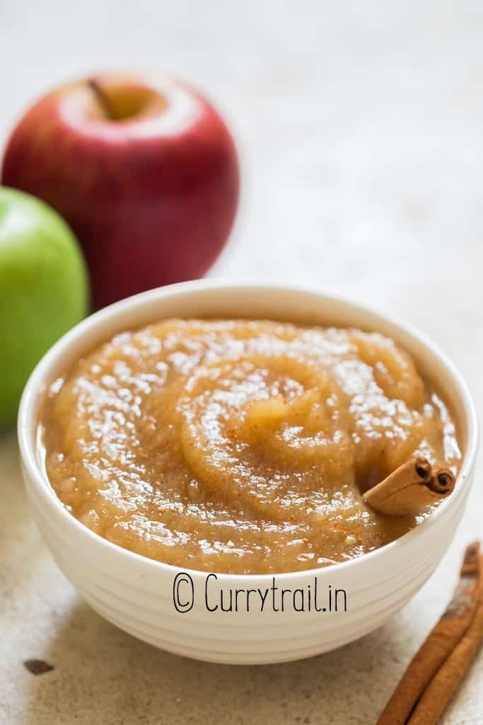 creamy applesauce cooked in instant pot