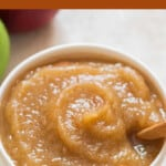 creamy applesauce with text