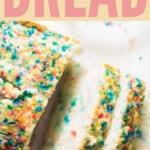 ice cream bread with text